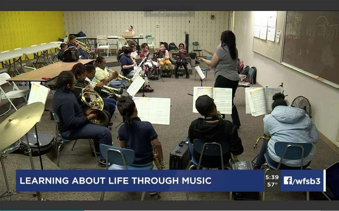 Charter Oak's Music Matters program, featured on WFSB